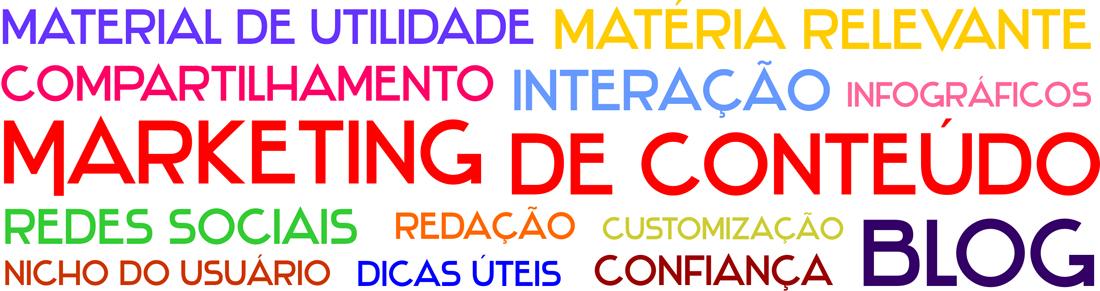Infográfico com termos de marketing digital